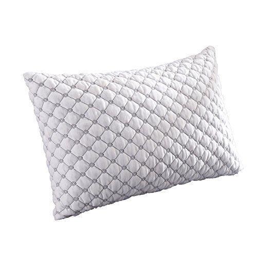 Lexeme Premium Adjustable Loft Shredded Hypoallergenic Memory Foam Pillow for Sleeping with Removable Bamboo Cover for Home & Hotel Collection Plus Pillow Protector Queen Size