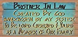 Cheap Brother In Law Created By God Sign – Brother In Law Plaque