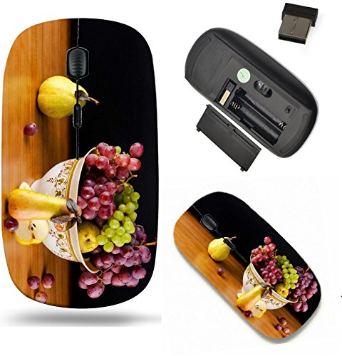 Pear Scroll - Liili Wireless Mouse Travel 2.4G Wireless Mice with USB Receiver, Click with 1000 DPI for notebook, pc, laptop, computer, mac book IMAGE ID: 19858993 still life of ripe grapes and pears