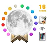 romantic bedroom ideas Moon Lamp, mono living,16 Colors 3D Print Moon Light (5.9inch) LED with Stand, Remote Control, Baby Night Light Birthday Anniversary Gifts Family Couple Daughter Mother Teen Girl Boyfriend Girlfriend