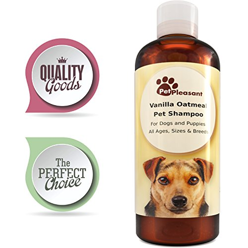 (Colloidal Oatmeal Shampoo for Dogs with Sensitive Skin - Natural Dog Shampoo for Itchy Skin - Tear Free Shampoo for Dogs and Puppies - Paw Repair - Enhanced with Vanilla Extract - Pet Odor Eliminator)