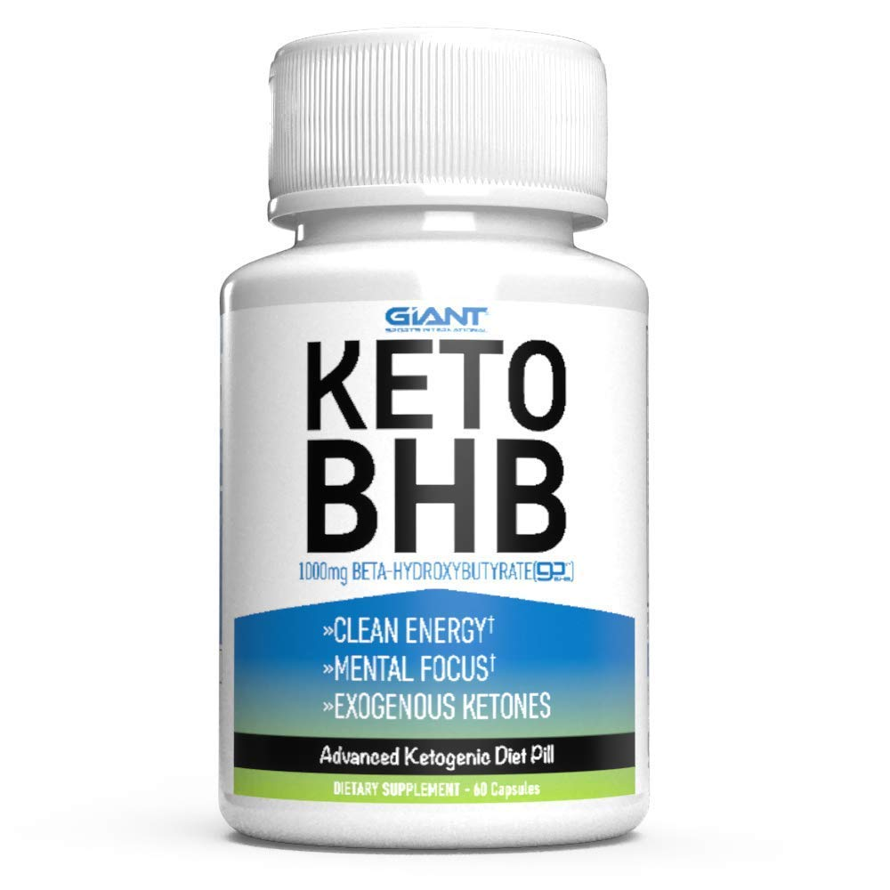 Giant Keto BHB - Exogenous Ketone Keto Pills with 1000mg of Beta-Hydroxybutyrate BHB Salts Supplement to Support a Ketogenic Diet - 60ct