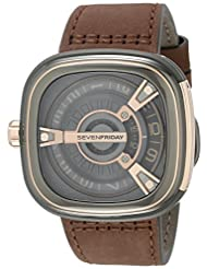 SEVENFRIDAY Men's M2-2 M SERIES Analog Display Japanese Automatic Brown Watch by SEVENFRIDAY
