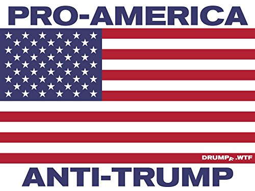 Drumpf.WTF Pro America, Anti-Trump Patriotic USA Flag 4.5