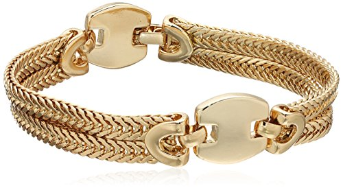 Napier Gold-Tone Double Row Chain - Gold Napier Bracelet Tone