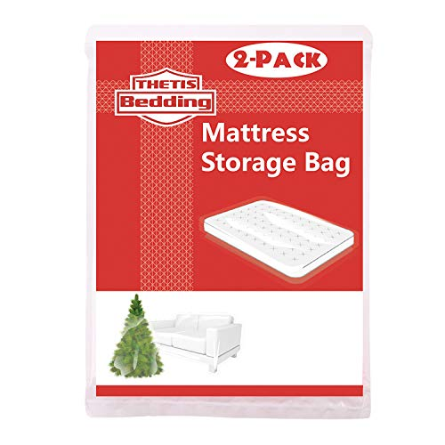 THETIS Homes 2 Pack Mattress Bag for Moving and Storage, Twin XL Size for Twin and Twin XL, 54x96 inch - Mart Twin Wal Beds
