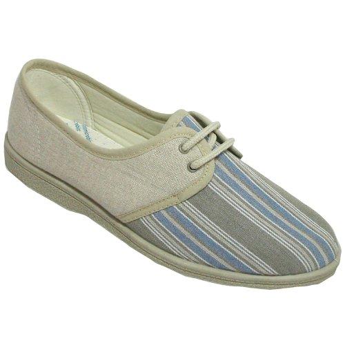 5 Shoes 4 Size Beige up Textile 3 6 Lace 7 Lined Womens 8 Mirak BwxTUZqvn