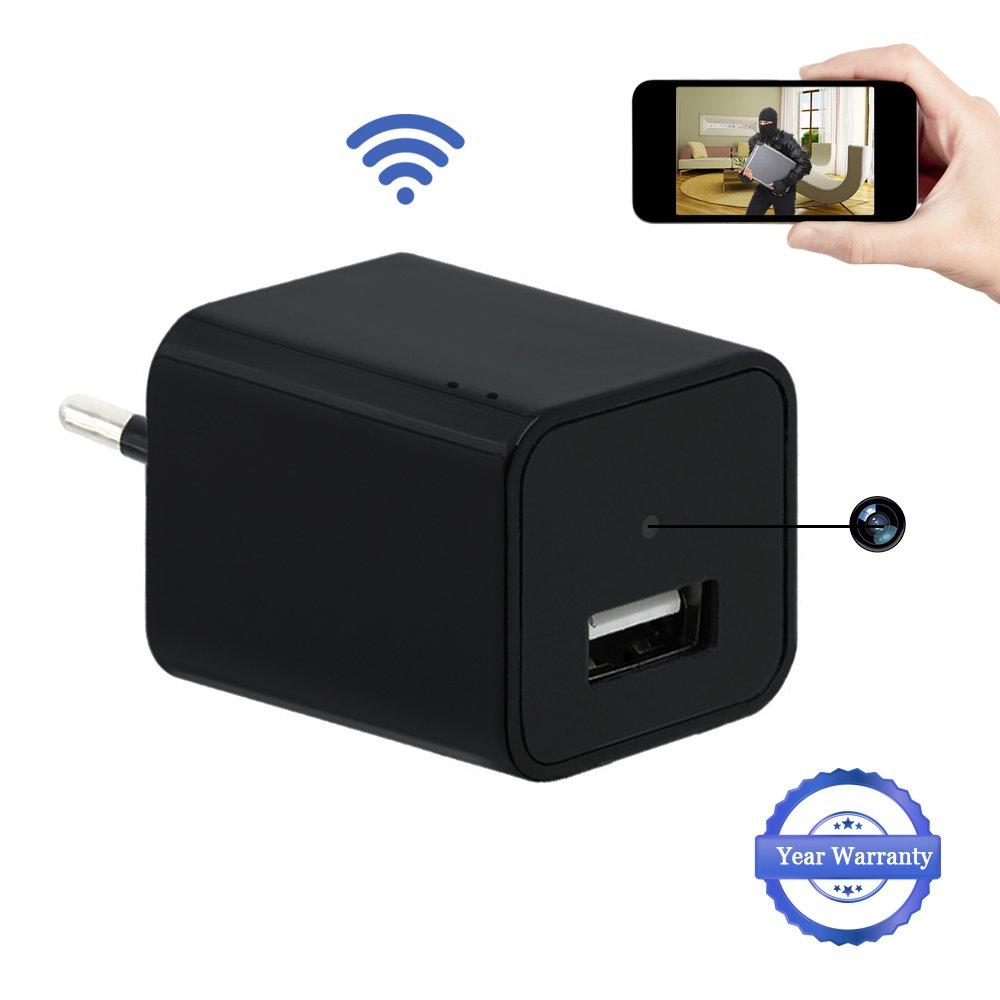 1080P HD Wifi Ocultos Cá mara USB Wall Charger Cá mara Espí a LXMIMI Telé fono Adaptador Inalá mbrico Cá mara Nanny Cam Cá mara de Vigilancia y Seguridad security camera