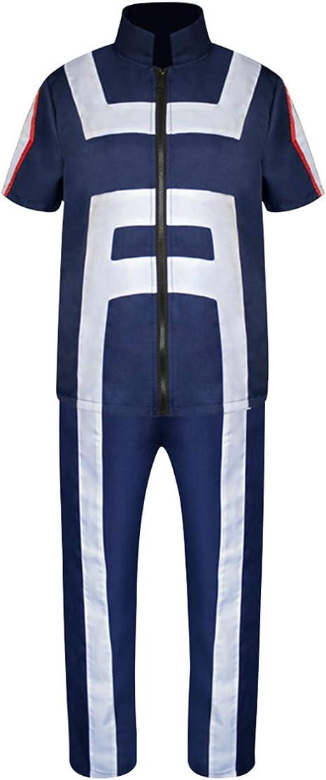 Bubabox My Hero Academia Cosplay Uniforms With Anime Character Wig Izuku Midoriya Shoto Todoroki Zipper Training Suit Hair