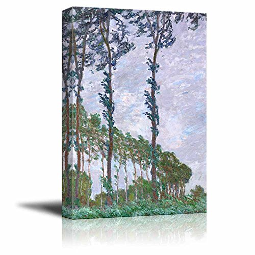 Poplars Wind Effect by Claude Monet Print Famous Painting Reproduction