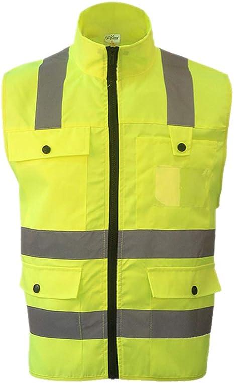 XL giallo Hemobllo Gilet alta Visibilit/à Giubbotto Catarifrangente Gilet Antinfortunistici