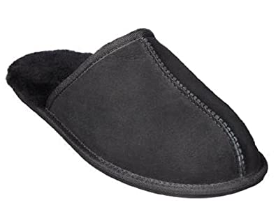 e1bdf319948 Image Unavailable. Image not available for. Color  Kirkland Signature Men s  Shearling Slippers ...