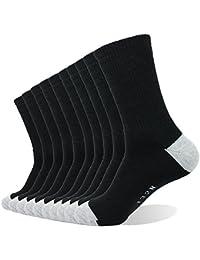 10P Pack Men's Cotton Moisture Wicking Extra Heavy Cushion Crew Socks