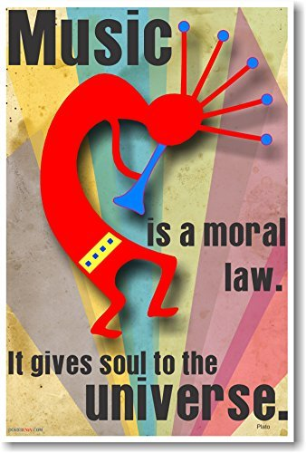 Music is a moral law. It gives soul to the universe - Plato - NEW Music Poster