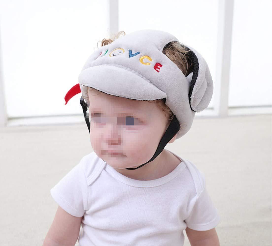 protecci/ón para la cabeza protecci/ón para la cabeza ajustable en tama/ño protecci/ón para la cabeza para ni/ños casco para beb/é antihit-Cap para ni/ños gris gris Gorro para beb/é