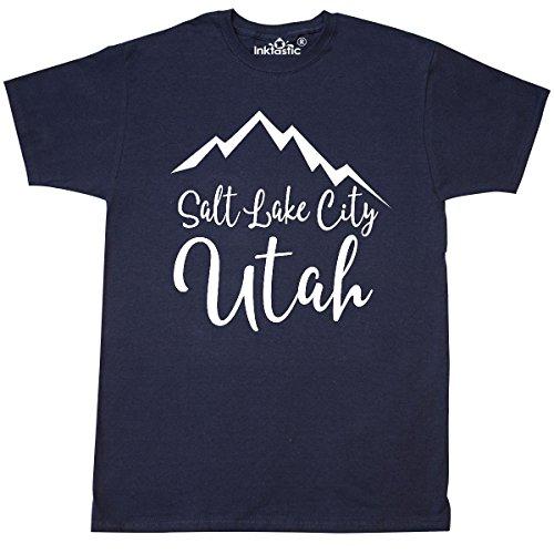 inktastic Salt Lake City Utah T-Shirt XXXX-Large Navy - Place City Salt Fashion Lake