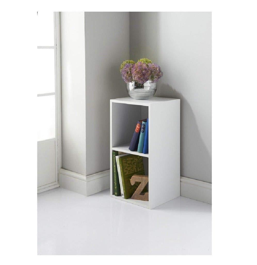 half off 72672 3d149 Lokken White 2 Cubes Compact Bedside Bookcase Decorative ...