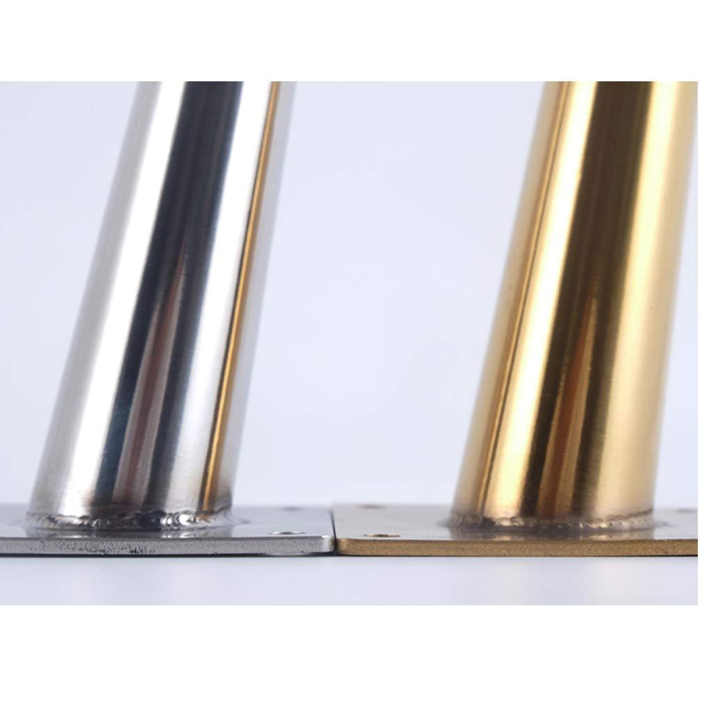 Patas para Muebles de Metal,Patas de Sof/á de Acero Inoxidable,Pies para Mesa Inclinadas C/ónicas,Capacidad de Carga de Hasta 1000 Kg,Multicolor Opcional,4 Piezas