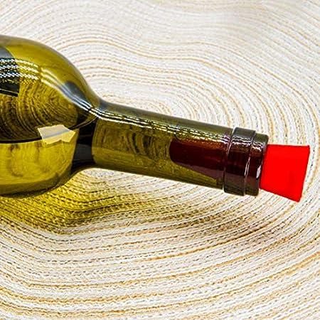 10 piezas de tapones para vino, CNYMANY reemplazo de sellador de botella de silicona reutilizable con tapa de agarre para corcho para mantener el vino fresco - rojo, azul, naranja, púrpura, negro