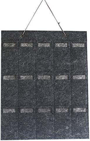 Chanhan Sonnenbrillen-Organizer Wand-Brillen-Schlüssel-Halter zum Aufhängen von Schmuck, Filz, Sonnenbrillen, Aufbewahrungstasche für Wand, Wohnzimmer, faltbare Aufbewahrung grau