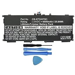 6800mAh EB-BT530FBU, EB-BT530FBC Battery for Samsung Galaxy Tab 4 10.1 SM-T530, SM-T531, SM-T533, SM-T535, SM-T537 Tablets with Installation Tools