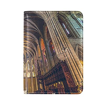 50%OFF PU Leather Passport Holder Cover Case with Sydney St Mary's Cathedral Travel One Pocket