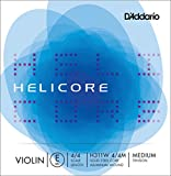 D'Addario Helicore Violin Single Aluminum Wound E String, 4/4 Scale, Medium Tension