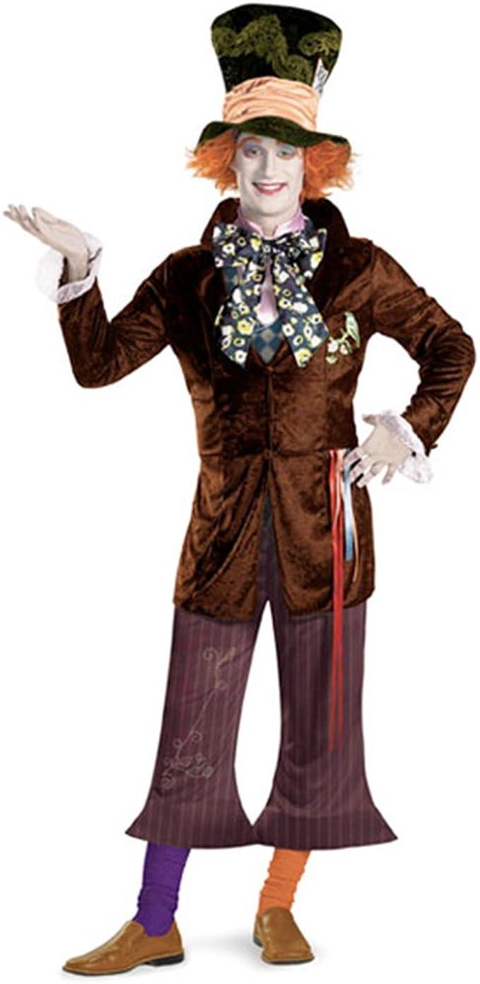 Amazon Com Disguise Men S Mad Hatter Prestige Movie Multi Xl 42 46 Costume Toys Games