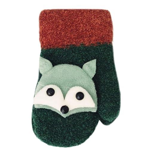 Amazon Shybuy Baby Cute Fox Pattern Cotton Fleece Gloves Winter