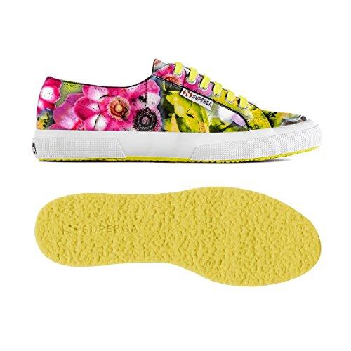 Superga 2750 FABRICFANPLW Petite Sneakers Femme Jaune