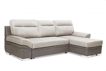 Slough Furniture Jessica Sofá Cama Tela - Color luz y Gris ...