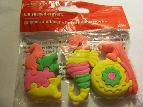 staples-animal-puzzle-erasers-set-of-3-elephant-seahorse-snail