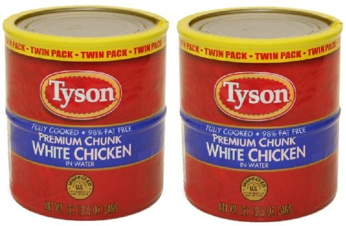 Tyson Premium Chunk White Chicken in Water (12.5 oz Twin Pack) 2 Twin - Tysons Two Stores