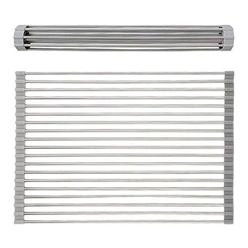 ELSKY Foldable Roll Up Stainless Drainer