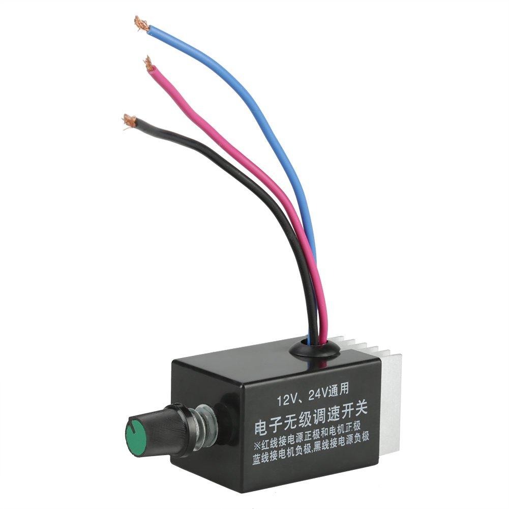 12V / 24V Interruptor de Controlador de Velocidad Regulador de Velocidad para Ventilador Calentador de Camión Coche