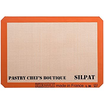 Sasa Demarle Silpat Premium Non-Stick Silicone Baking Mat, Big Sheet Pan Size (2/3 Sheet Pan) for a 15''x 21'' Sheet Pan - 13.58''x 19.5'' - by Pastry Chef's Boutique