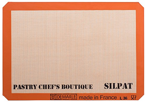 Sasa Demarle Silpat Premium Non-Stick Silicone Baking Mat, Big Sheet Pan Size (2/3 Sheet Pan) for a 15''x 21'' Sheet Pan - 13.58''x 19.5'' - by Pastry Chefs Boutique