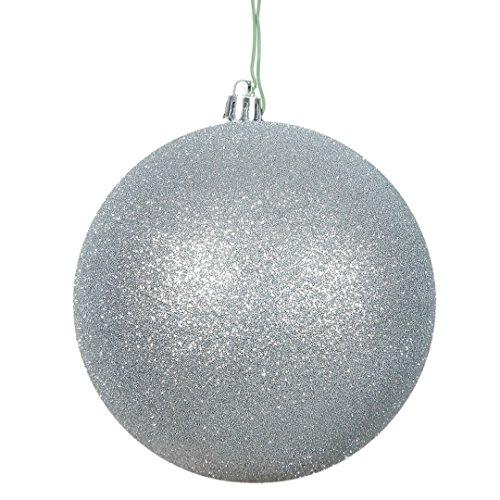 Green Glitter Ball - Vickerman N590807DG Glitter Ball Ornaments with Shatterproof UV Resistant, Pre-drilled cap Secured & 6