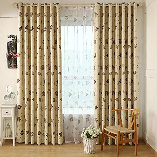 Grommet Window Blackout Curtain Liner Lovely Shamrock 80 x 40 Inch Window Curtain Treatment Panel (D)