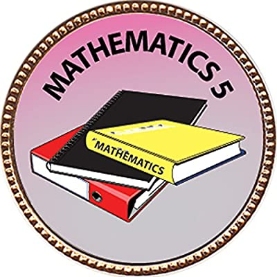 Mathematics 5 Award, 1 inch dia Gold Pin