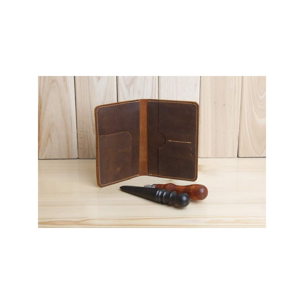 BOOBOOAD Leather Men Passport Cover Travel Leather Passport Holder Wallet Travel Covers on The Passport
