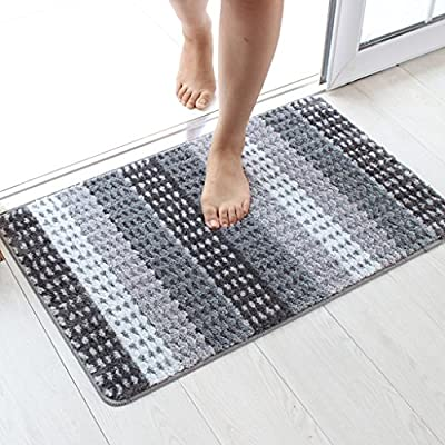 alfombra Toallas de baño de inodoro verde esteras higiénicas hogar antideslizante (Color : Gris , Tamaño : 50*80cm)