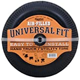 Marathon Universal Fit Pneumatic (Air Filled) Hand Truck / All Purpose Utility Tire on Wheel with Adapter Kit Included