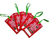 Christmas Hot Chocolate Gift Tags/Stocking Stuffer with Ribbon for Holidays(5x1oz Packets of Hot Cocoa) To/From, Christmas Ornaments, Best Gift Idea For Wrapping Presents or Hang on Gift Bags