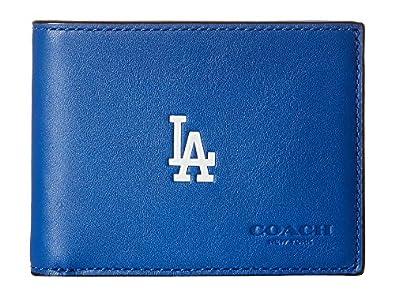 0dda366e62 COACH Men's MLB Slim Billfold La Dodgers Wallet