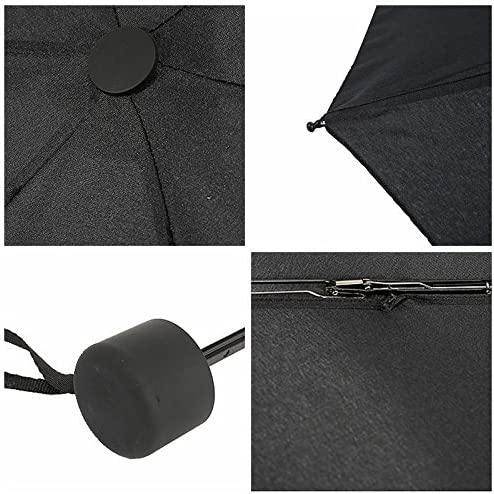 Blansdi Mini Travel Umbrella Compact Windproof Lightweight Portable Folding Sun/&Rain Umbrella Wine Red