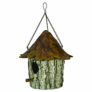 River's Edge Oak and Tree Leaf Birdhouse, Brown