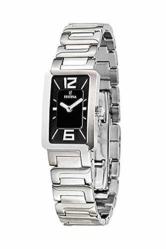 Reloj para mujer FESTINA F16216 / 7 Negro correa de acero de dial: Amazon.es: Relojes