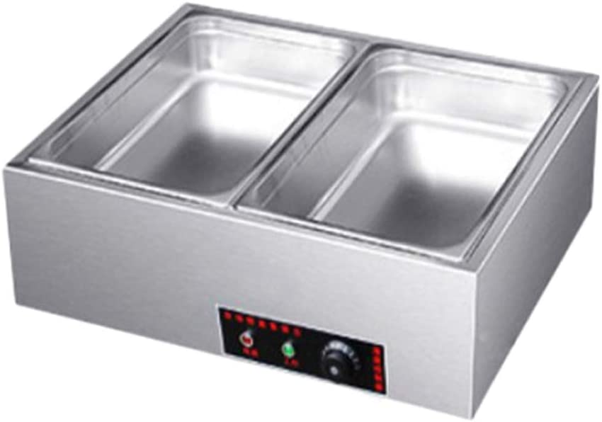Electric Buffet Server Commercial Stainless Steel Food Warmer for Catering and Restaurant,Table Electric Heating and Heat Preservation Soup Pool