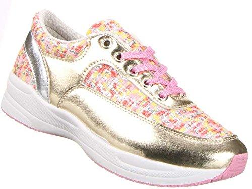 09056dd8972f Damen Schuhe Sportschuhe Freizeitschuhe Schürschuhe Turnschuhe Sneaker ,  Weitere Farben  Schwarz Gold Rosa Gold Rot